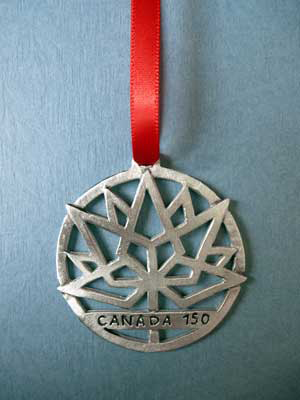 2017 Canada 150 Annual Ornament - Lead Free Pewter