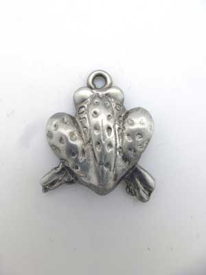 Frog Back Charm - Lead Free Pewer