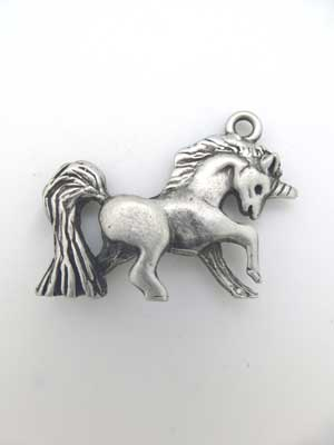 Unicorn Charm - Lead Free Pewter