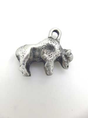 Buffalo Charm - Lead Free Pewter