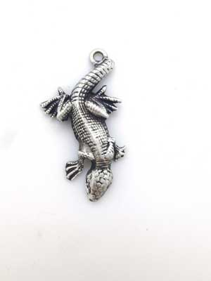 Lizard Charm - Lead Free Pewter