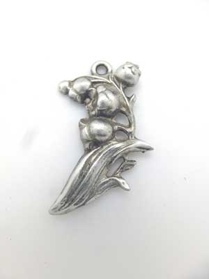 Lily of the Valley Charm - Lead Free Pewter