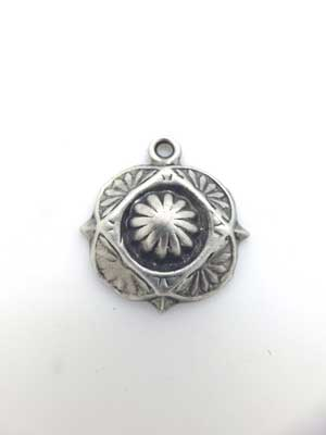 Dome Charm - Lead Free Pewter