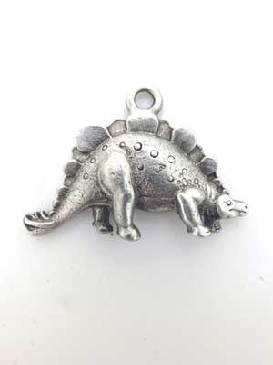 Stegosaurus Charm - Lead Free Pewter