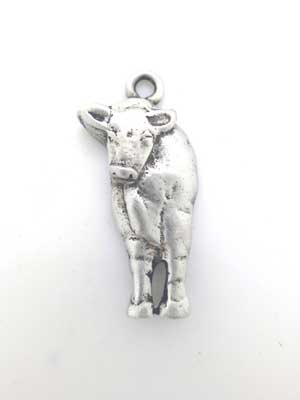 Cow Front Charm - Lead Free Pewter