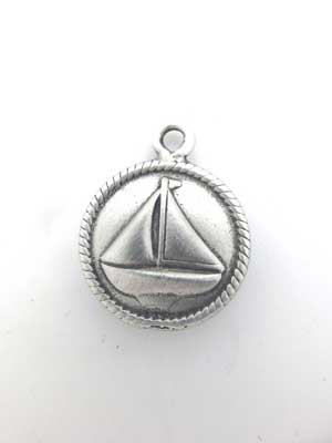 Sailboat Charm - Lead Free Pewter