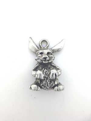 Bunny Charm - Lead Free Pewter