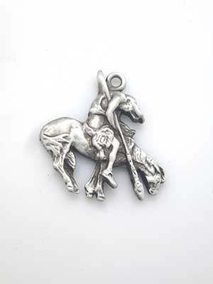 Native & Horse Charm - Lead Free Pewter
