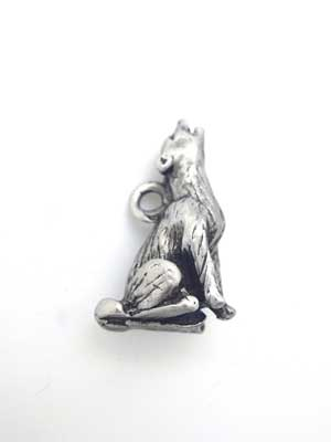 Coyote Charm - Lead Free Pewter