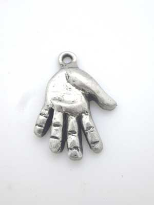 Hand Charm - Lead Free Pewter