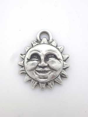 Sun Charm - Lead Free Pewter