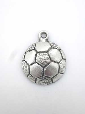 Soccer Ball Charm - Lead Free Pewter