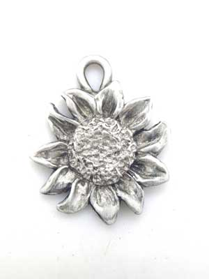 Sunflower Charm - Lead Free Pewter