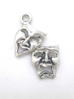 Comedy/ Tragedy Charm - Lead Free Pewter