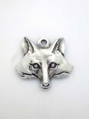 Fox Head Charm - Lead Free Pewter