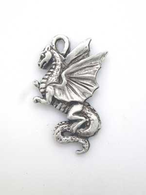 Dragon Charm - Lead Free Pewter