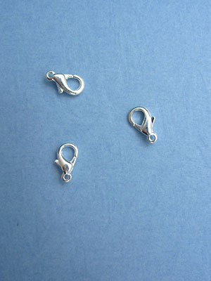 X-Small Silver Plated Lobster Claw Clasps