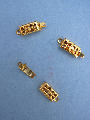 Single Hole Clasps - Gold Plated - 5 sets