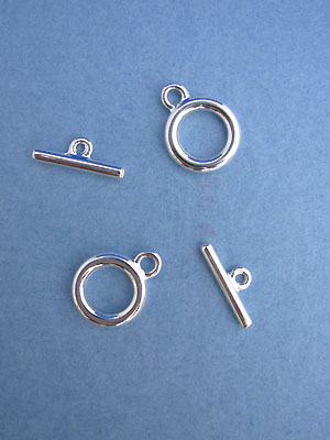 Medium Toggles - Silver Plated