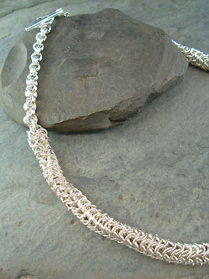 Cable Chain Maille Necklace - Argentium Sterling Silver Wire