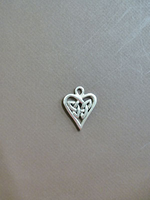 Sm.Triquetra Heart - Lead Free Pewter