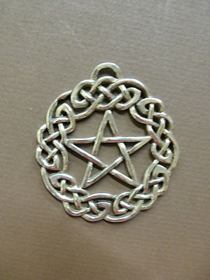 Large Celtic Pentagram - Lead Free Pewter