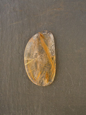 Rutilated Quartz Freeform Designer Cabochon