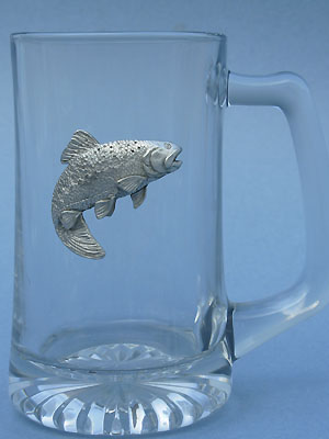 Trout beer mug - Lead Free Pewter