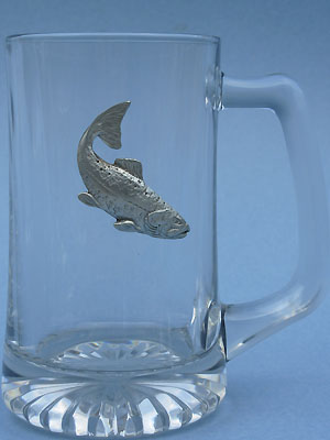 Salmon Beer Mug - Lead Free Pewter