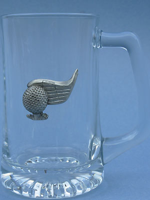 Golf Club and Ball Beer Mug - Lead Free Pewter