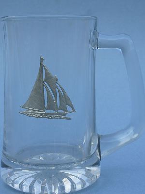 Sailing Ship Beer Mug - Lead Free Pewter