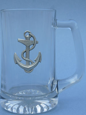 Anchor Beer Mug - Lead Free Pewrter