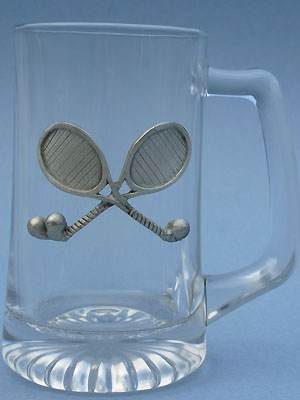 Tennis Beer Mug - Lead Free Pewter