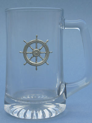Ships Wheel Beer Mug - Lead Free Pewter