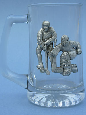 Large Hockey Beer Mug - Lead Free Pewter