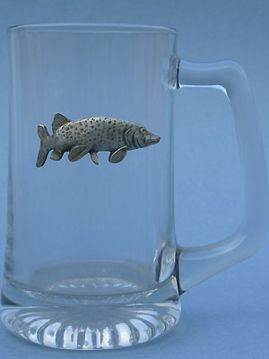 Pike Beer Mug - Lead Free Pewter