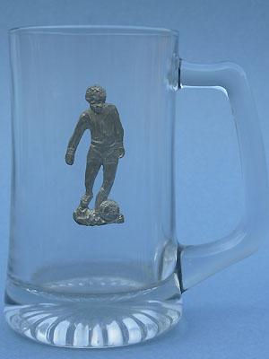 Soccer Player Beer Mug - Lead Free Pewter
