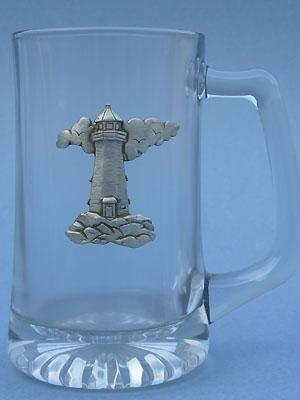 Lighthouse Beer Mug - Lead Free Pewter