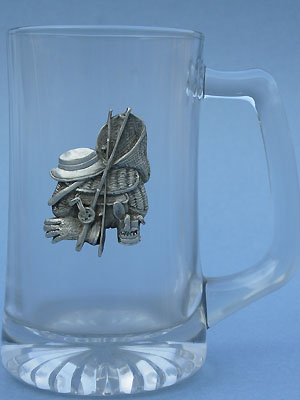 Fishing Gear Beer Mug -Lead Free Pewter