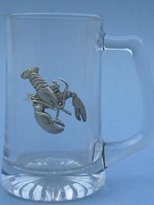 Lobster Beer Mug - Lead Free Pewter