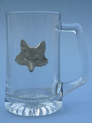 Fox Head Beer Mug - Lead Free Pewter