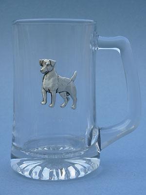 Standing Jack Russell Beer Mug - Lead Free Pewter