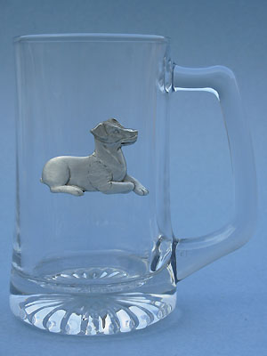 Sitting Jack Russell Beer Mug - Lead Free Pewter