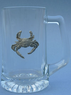 Crab Beer Mug - Lead Free Pewter