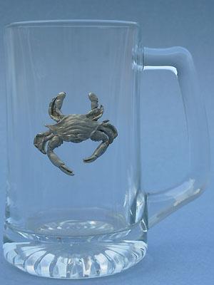 Crab Beer Mug - Lead Free Pewter