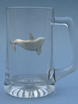 Killer Whale Beer Mug - Lead Free Pewter