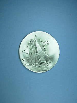 Sailboat Coaster - Lead Free Pewter