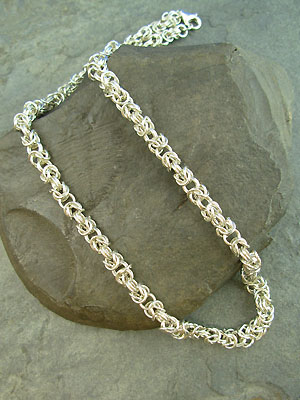 Byzantine Chain Maille Necklace - Argentium Sterling Silver