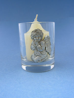Praying Angel Votive - Lead Free Pewter