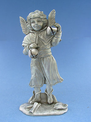 Angel with Bells Figurine - Lead Free Pewter